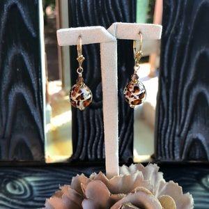 Jewelry - Animal Print Drop Earrings